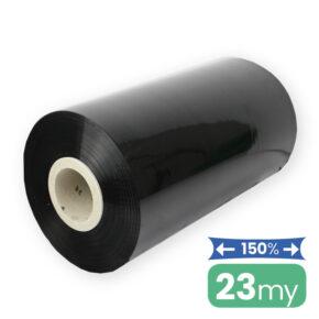 zwarte machinefolie voor palletwikkelaar 23my