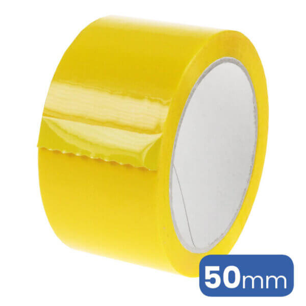 Verpakkingstape in de kleur geel